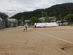 ボール投げの練習