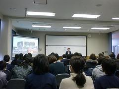 篠山東中学校入学説明会の様子