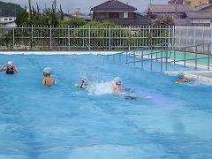 泳いでいます。